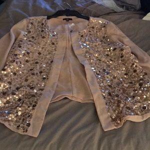 Light pink sequin blazer Xl